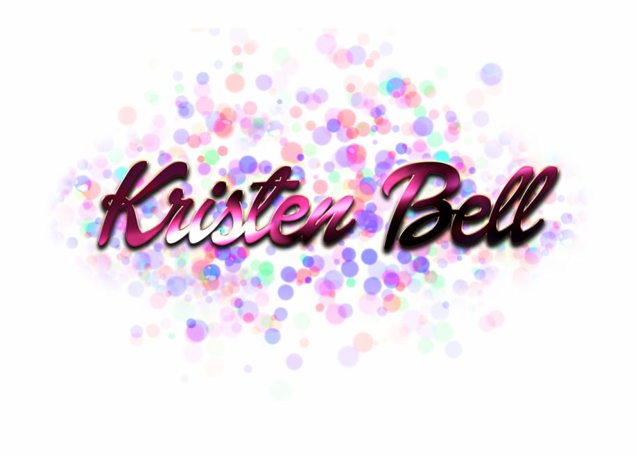 Kristen Bell Name Logo Bokeh Png.