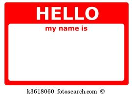 Name tag Stock Illustrations. 1,941 name tag clip art images and.