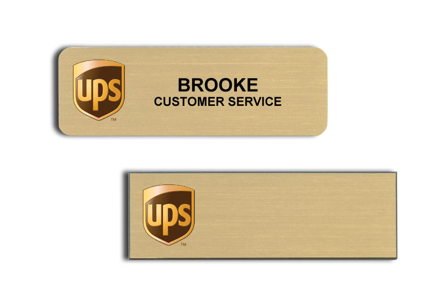 Name tags with Logos.
