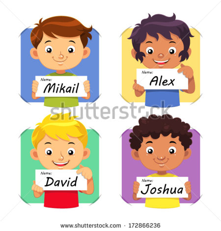 Child Name Stock Images, Royalty.