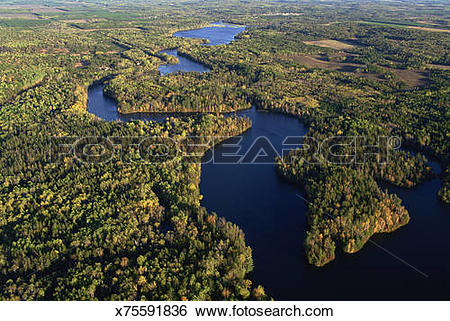 Stock Images of Taego Lake on the Namekagon River in Wisconsin.