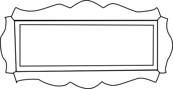 Ornamental Nameplate clip art Free vector in Open office drawing.