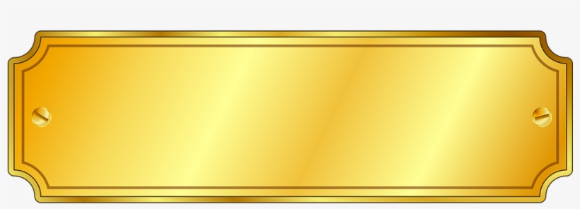 Gold Vector Name Plate.