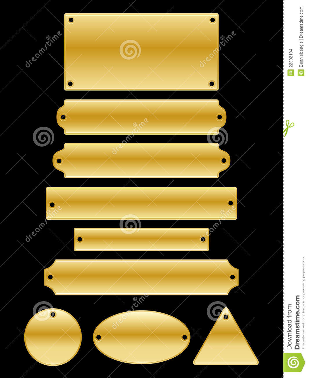 Name Plates Stock Images.