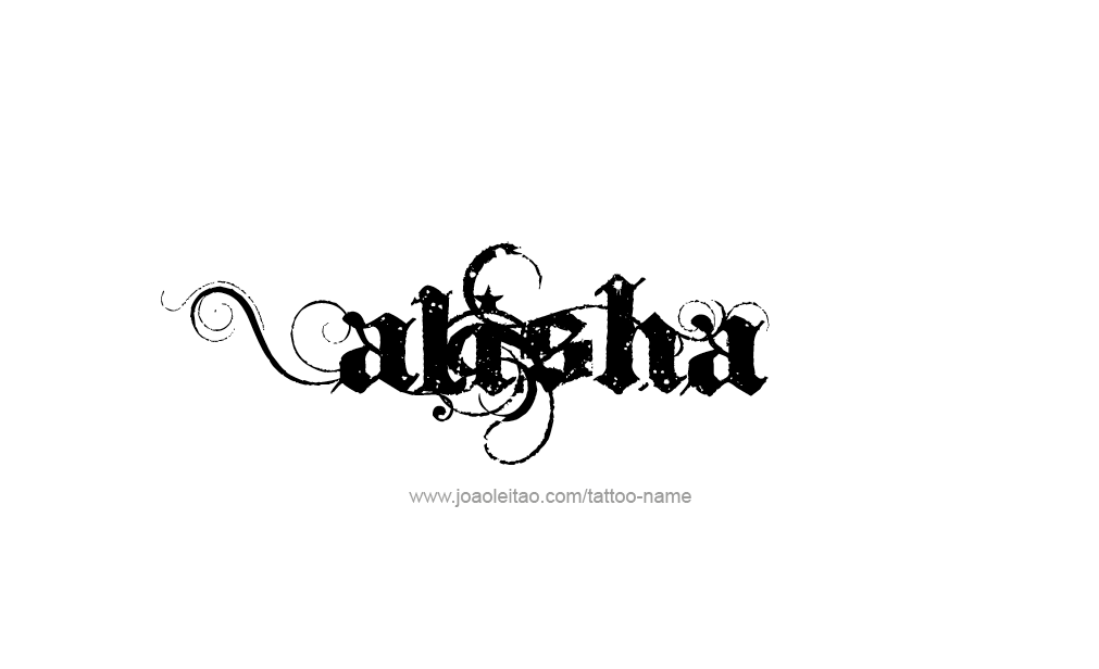 Alisha Name Tattoo Designs.
