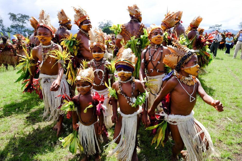Goroka Show dancers.
