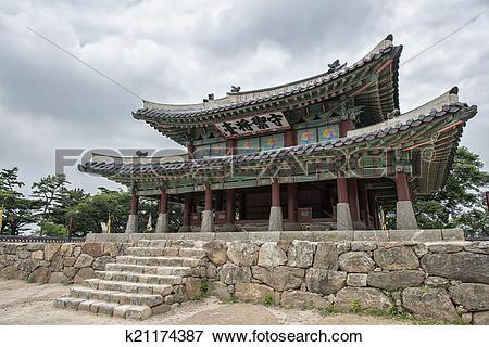 Picture of Sueojangdae of Namhansanseong in Korea k21174387.