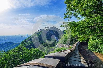 Namhansanseong Fortress In South Korea. Stock Photo.