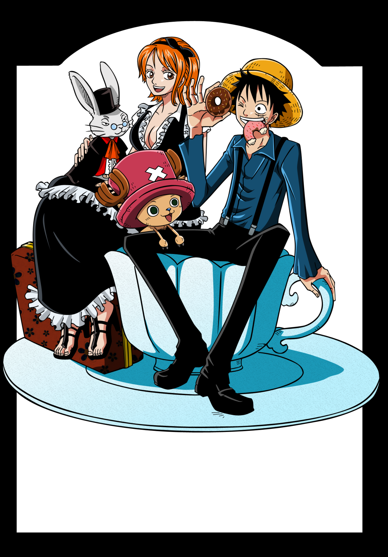 Luffy and Nami favourites by 1MangaOtaku on DeviantArt.