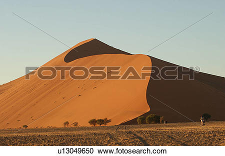 Stock Photography of Sand Dunes of Sossusvlei.