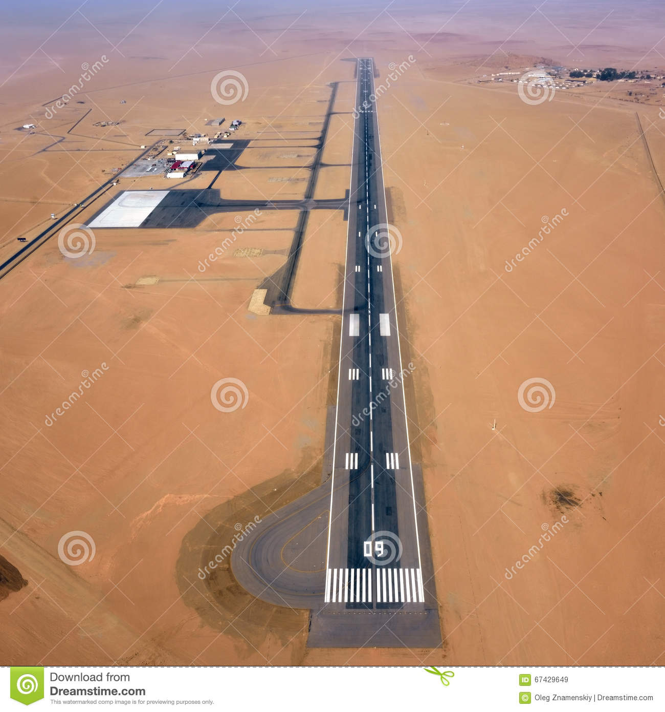 Airport In Namib Desert Stock Photo.