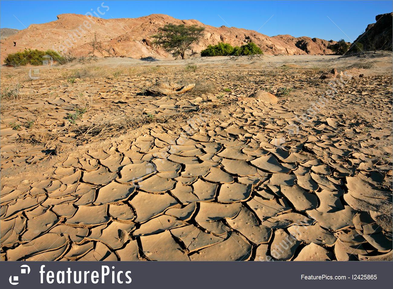 Image Of Dry River, Namib Desert.