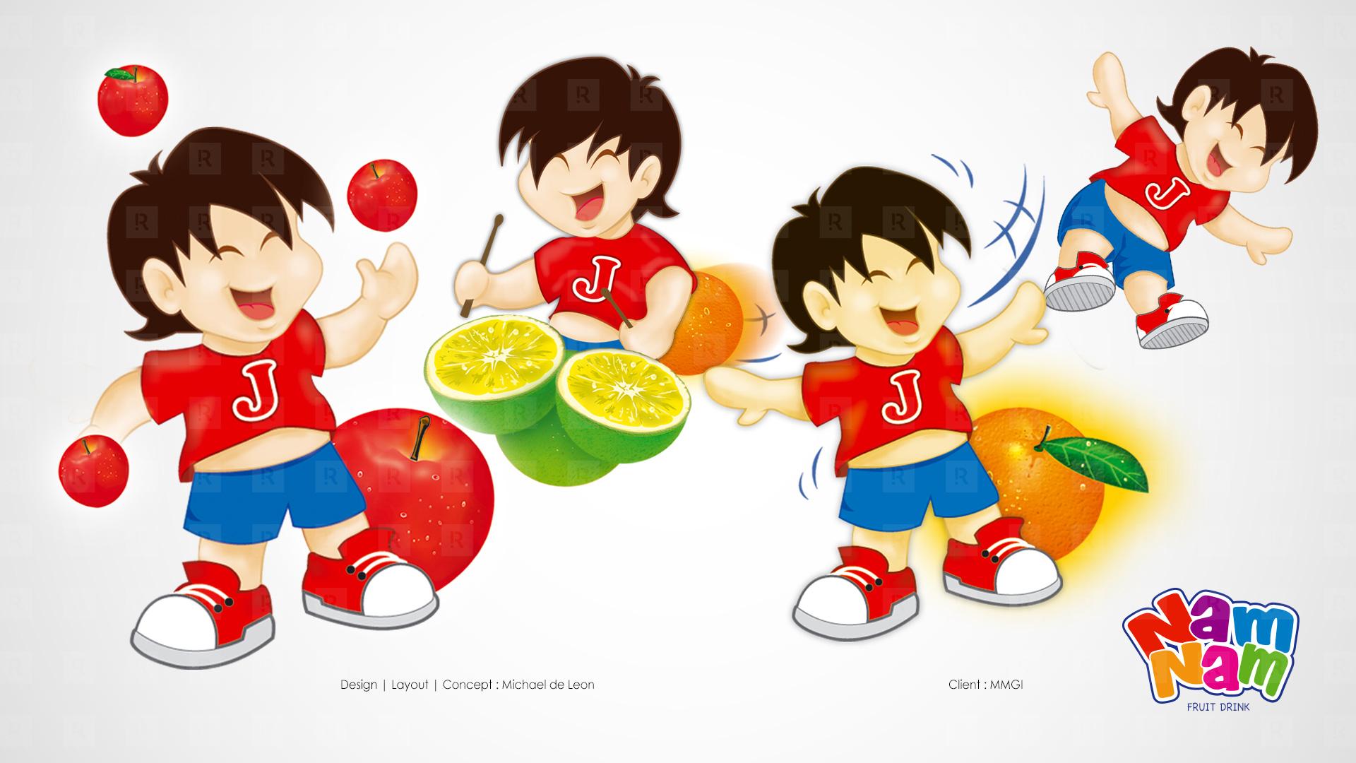 Nam Nam Fruit Drink.