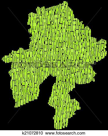 Clipart of Isolated map of Namur k21072810.