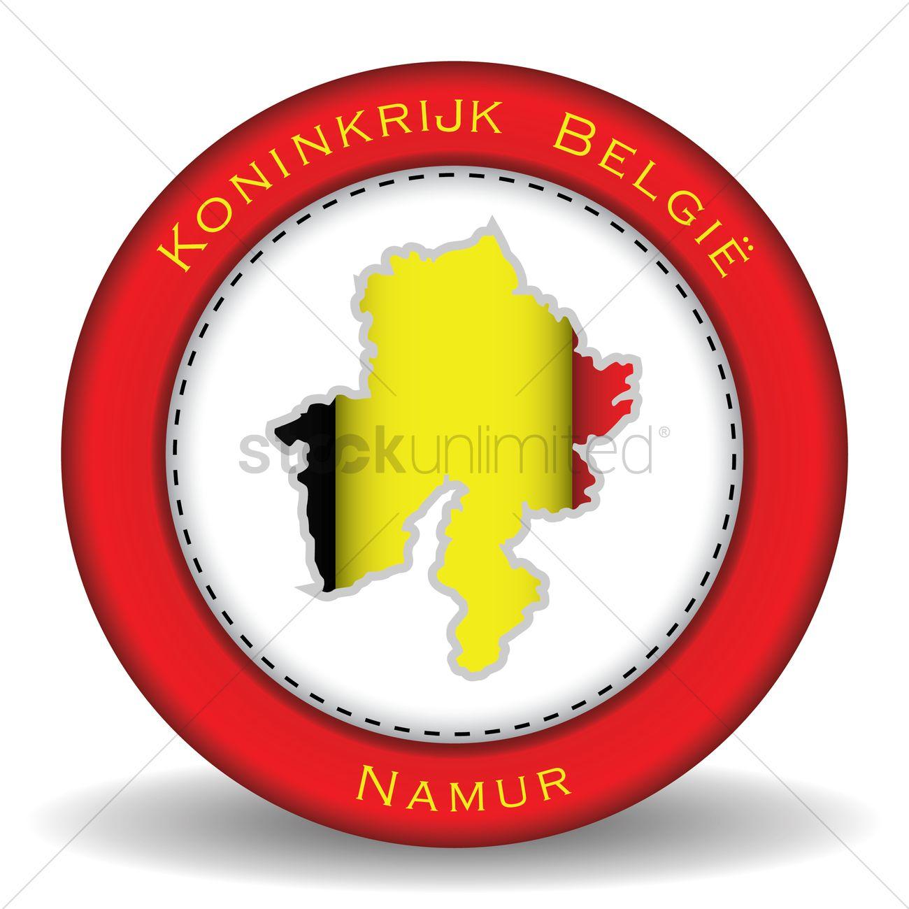 Namur map sticker Vector Image.