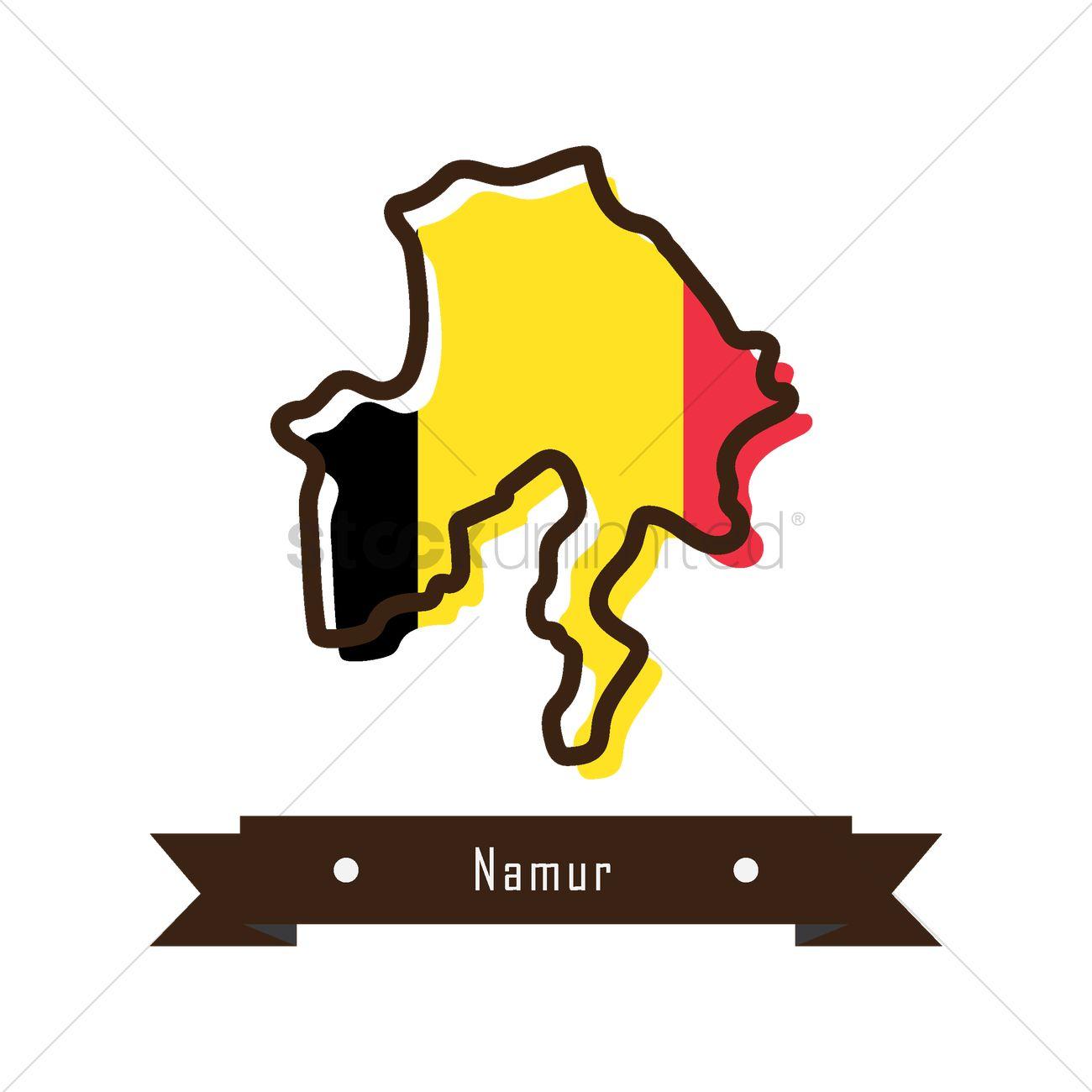 Namur map Vector Image.