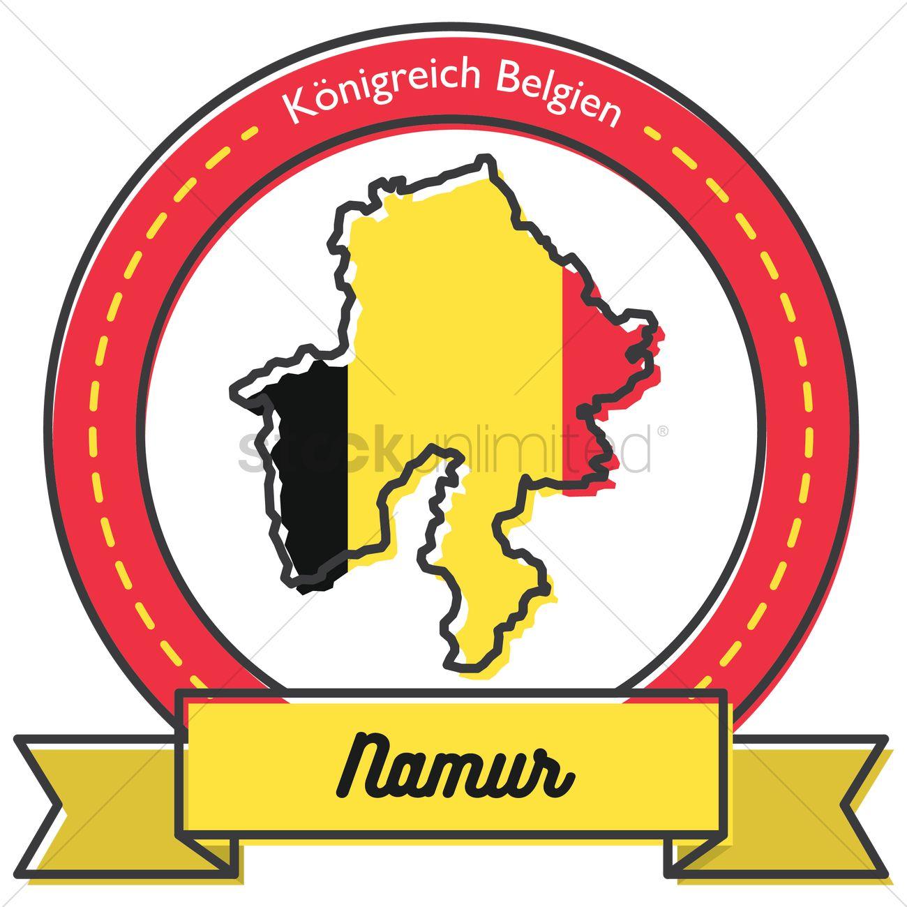 Namur map label Vector Image.