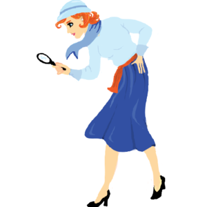 Nancy Drew, drawn from silhouette :) in 2019.
