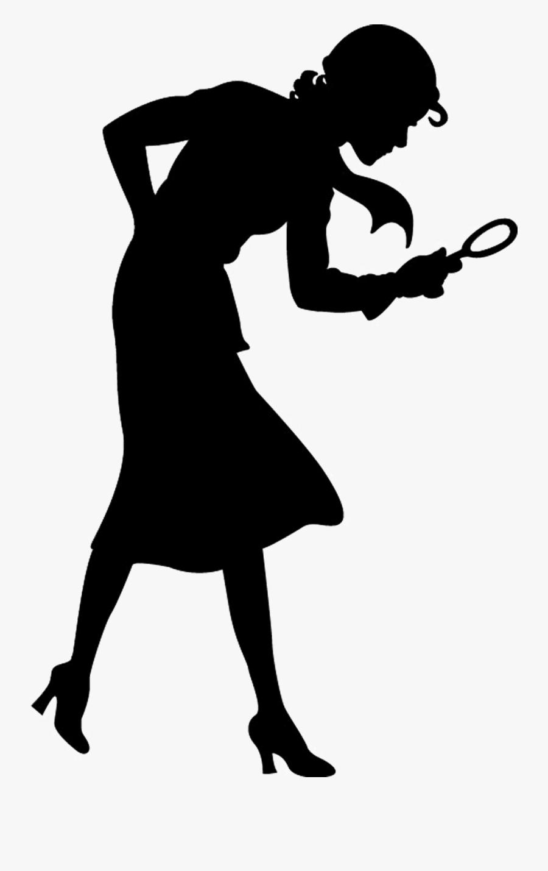 Nancy Drew Silhouette Transparent , Free Transparent Clipart.