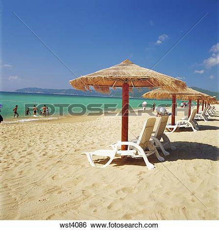 Stock Images of Sea Amd Beach,Sanya,China wst4086.
