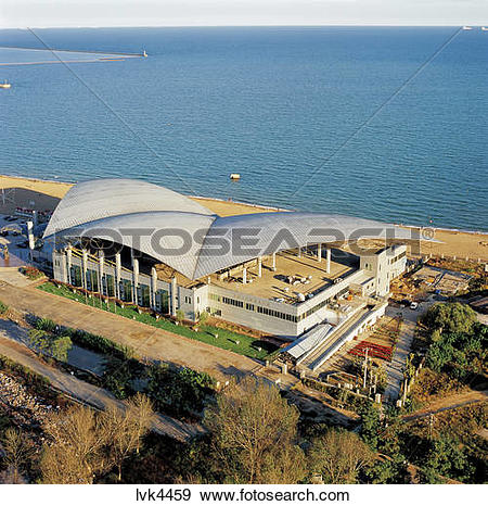 Stock Photograph of high angle view of Xinao Underwater World by.