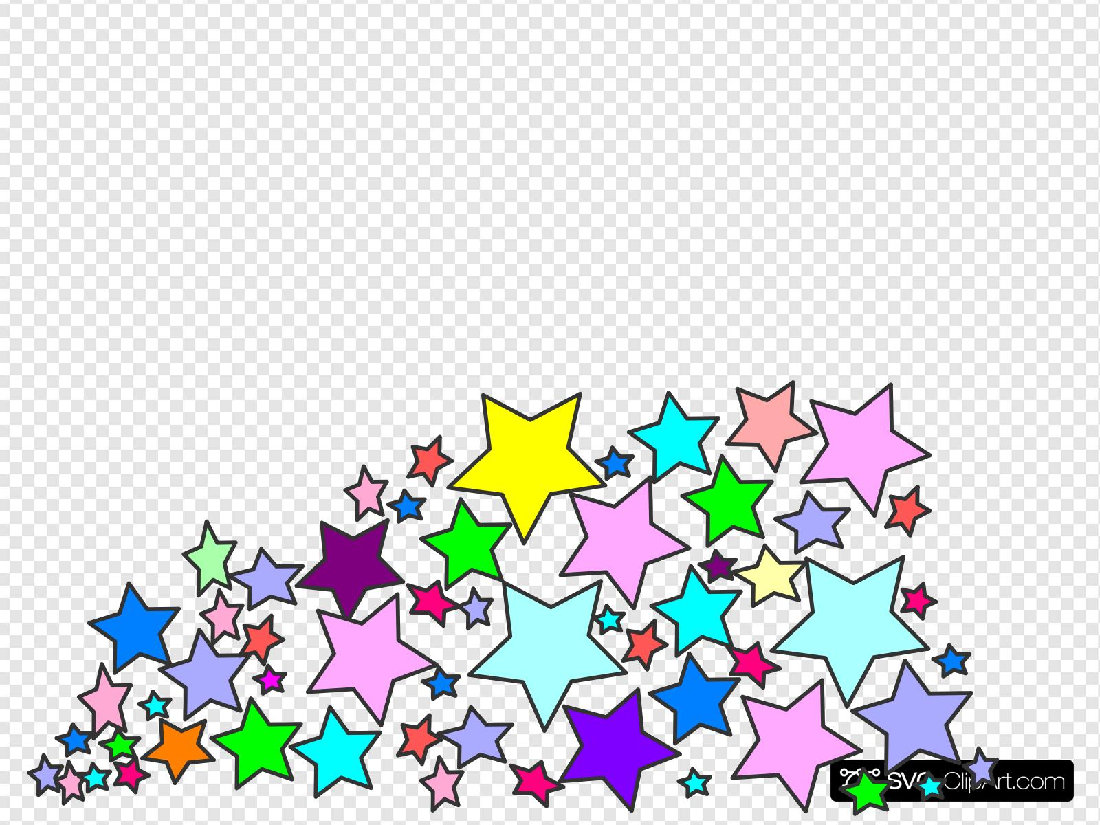 Multi Stars Nani Clip art, Icon and SVG.
