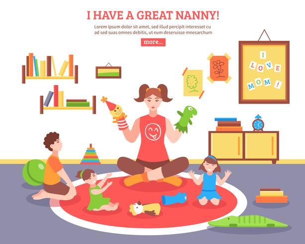 Babysitter Concept Illustration.