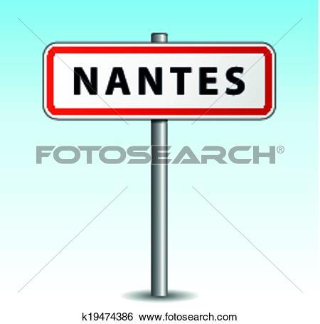 Clip Art of Vector nantes signpost k19474386.