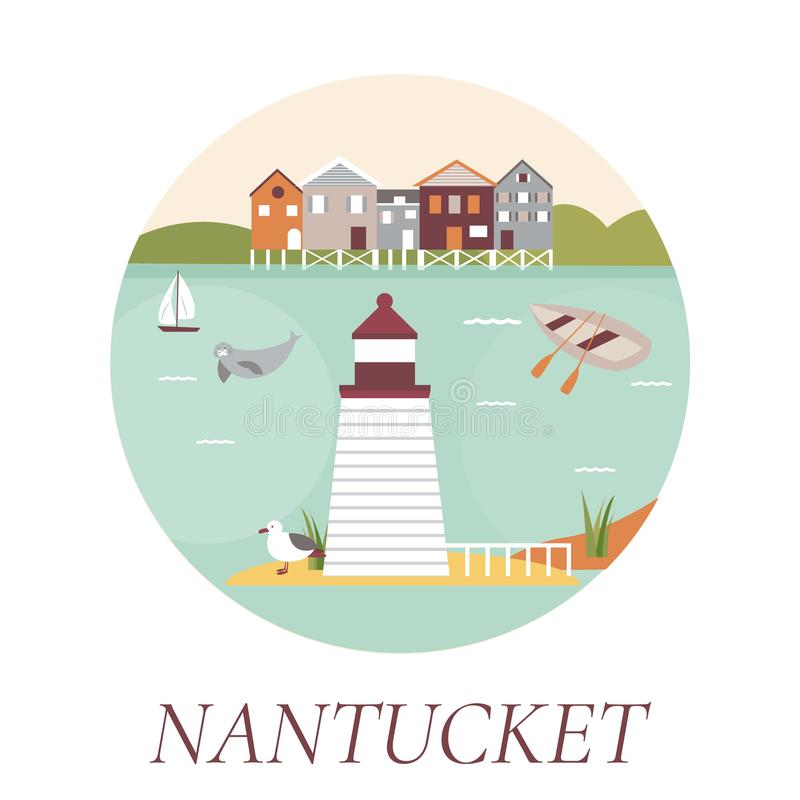 Nantucket Stock Illustrations.