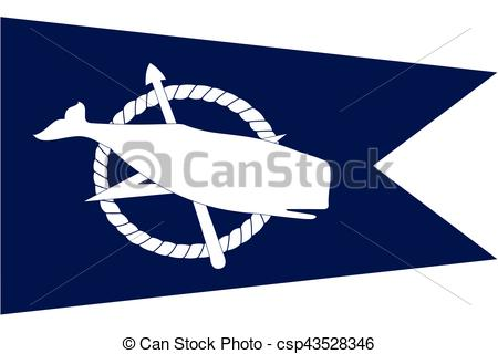 Flag of Nantucket, Massachusetts, USA. Vector Format.