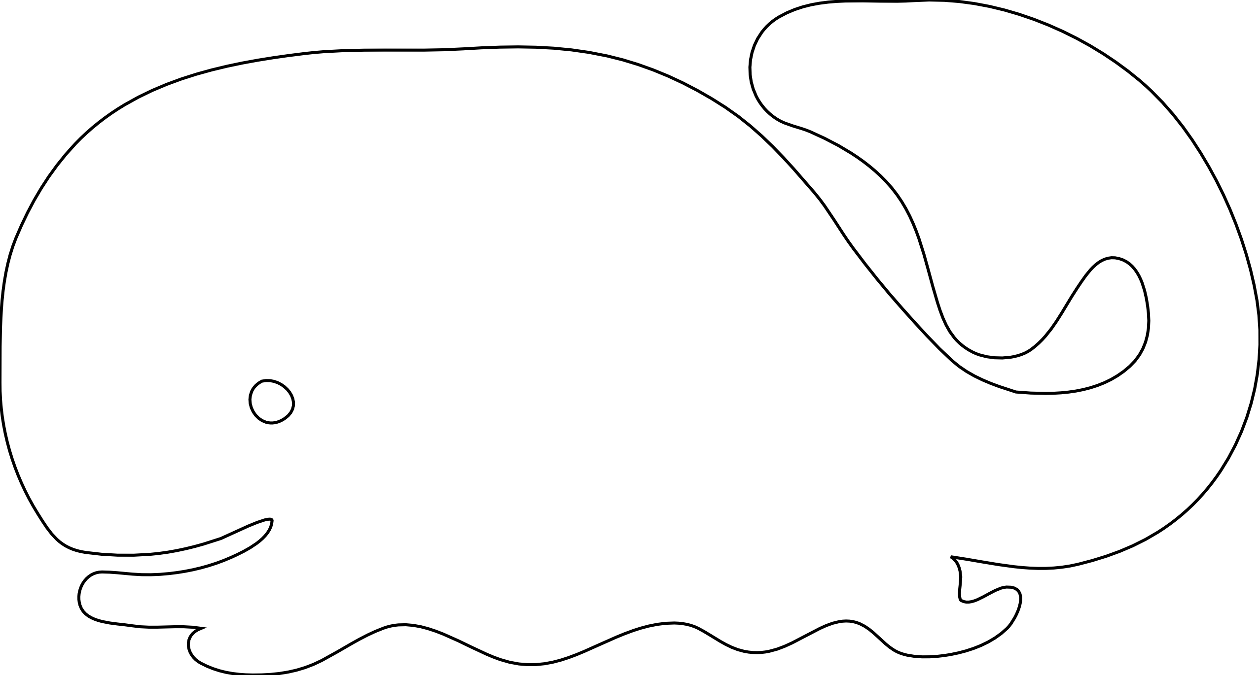 Whale Icon Black White Line Art Scalable Vector Graphics SVG.