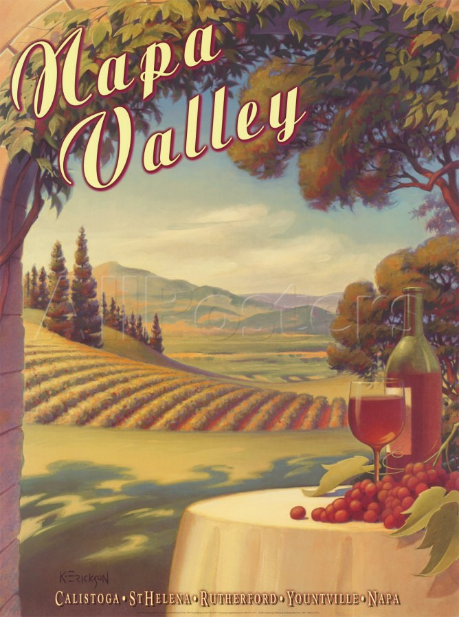 Napa Valley Art by Kerne Erickson at AllPosters.com.