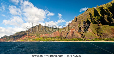 Napali Coast Stock Photos, Royalty.