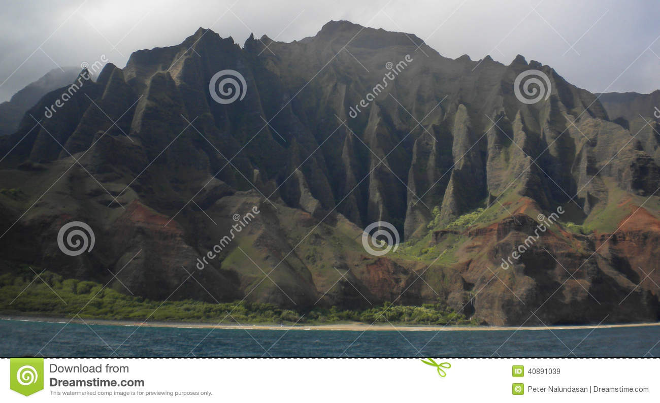 Napali Coast Stock Photo.