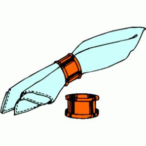 Napkin clipart #11