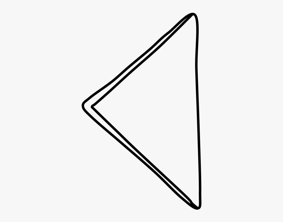 Napkin, Triangle, Folded, Black And White.