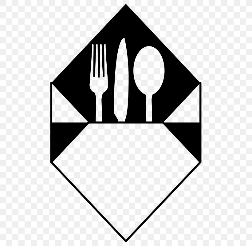 Cloth Napkins Cutlery Fork Spoon Clip Art, PNG, 509x800px.
