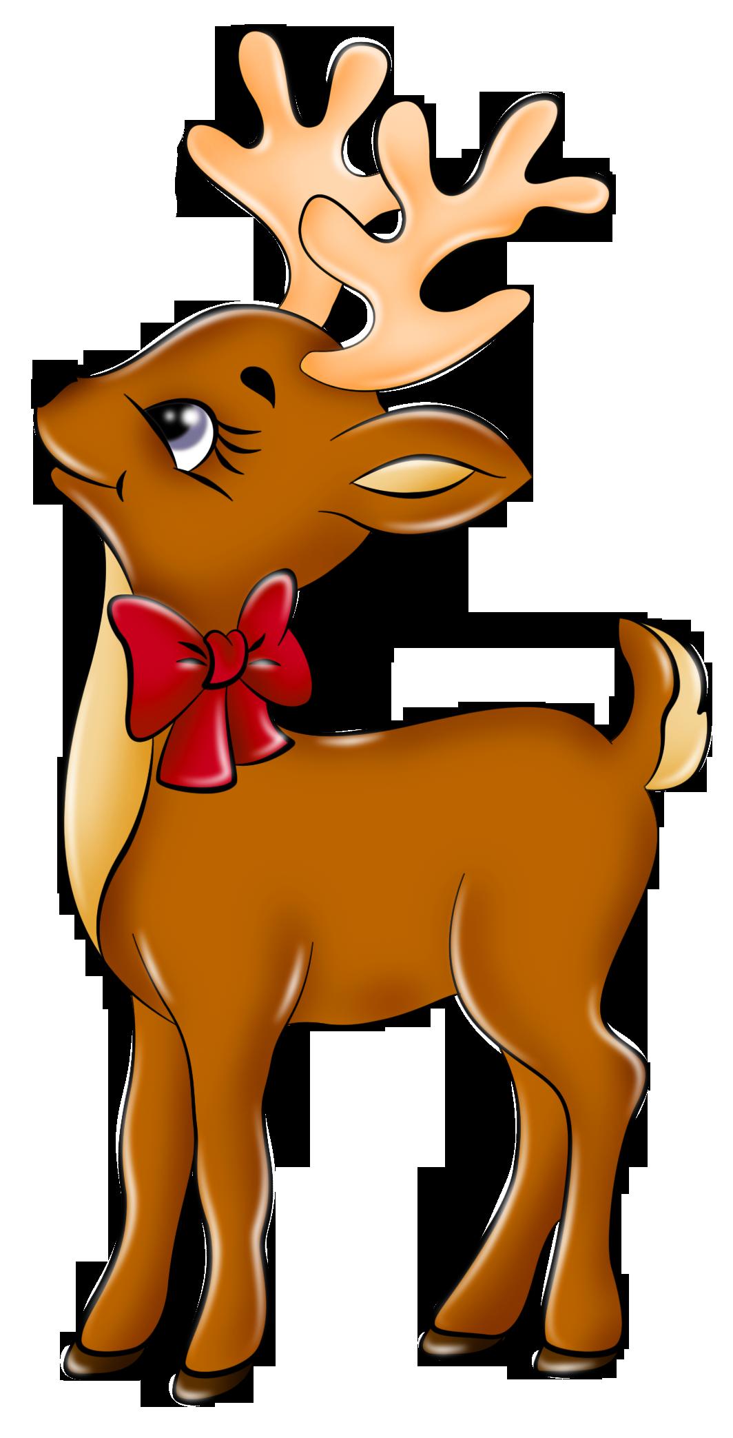 reindeer christmas clipart free #11