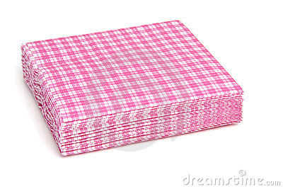 Stack Of Pink Paper Table Napkins Royalty Free Stock Photos.