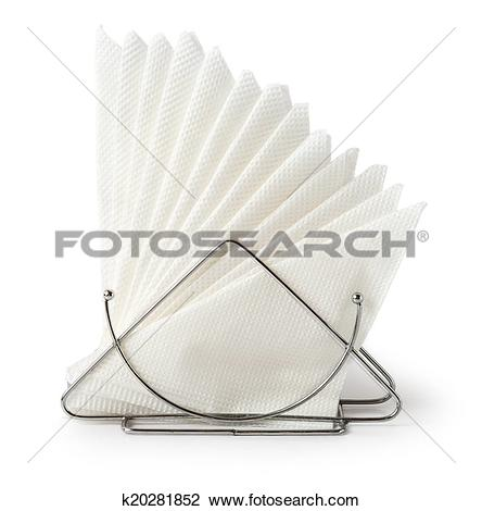 Stock Photo of Table napkin holder with napkins k20281852.