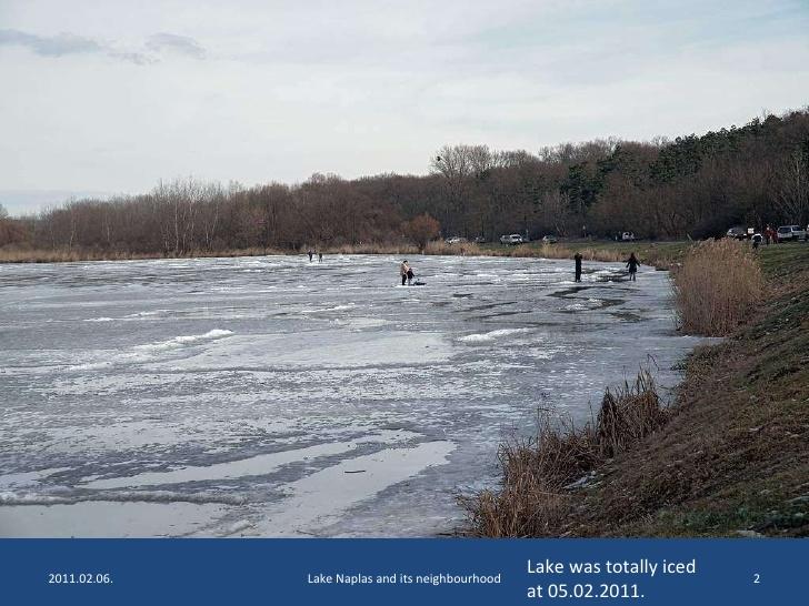 Lake Naplás at Winter.