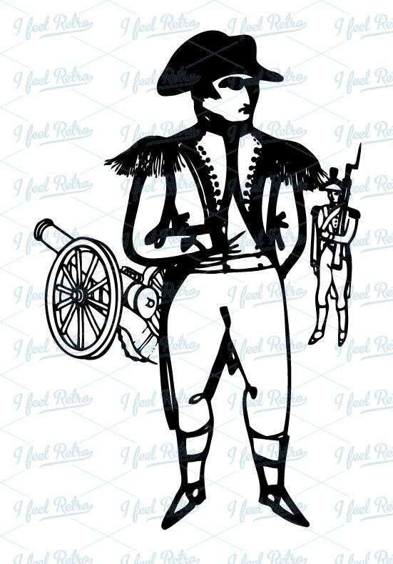Retro Clipart: Napoleon Bonaparte.
