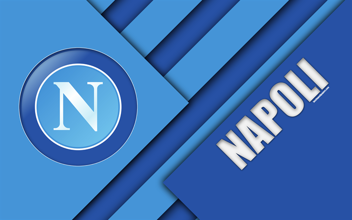 Download wallpapers Napoli FC, logo, 4k, material design.
