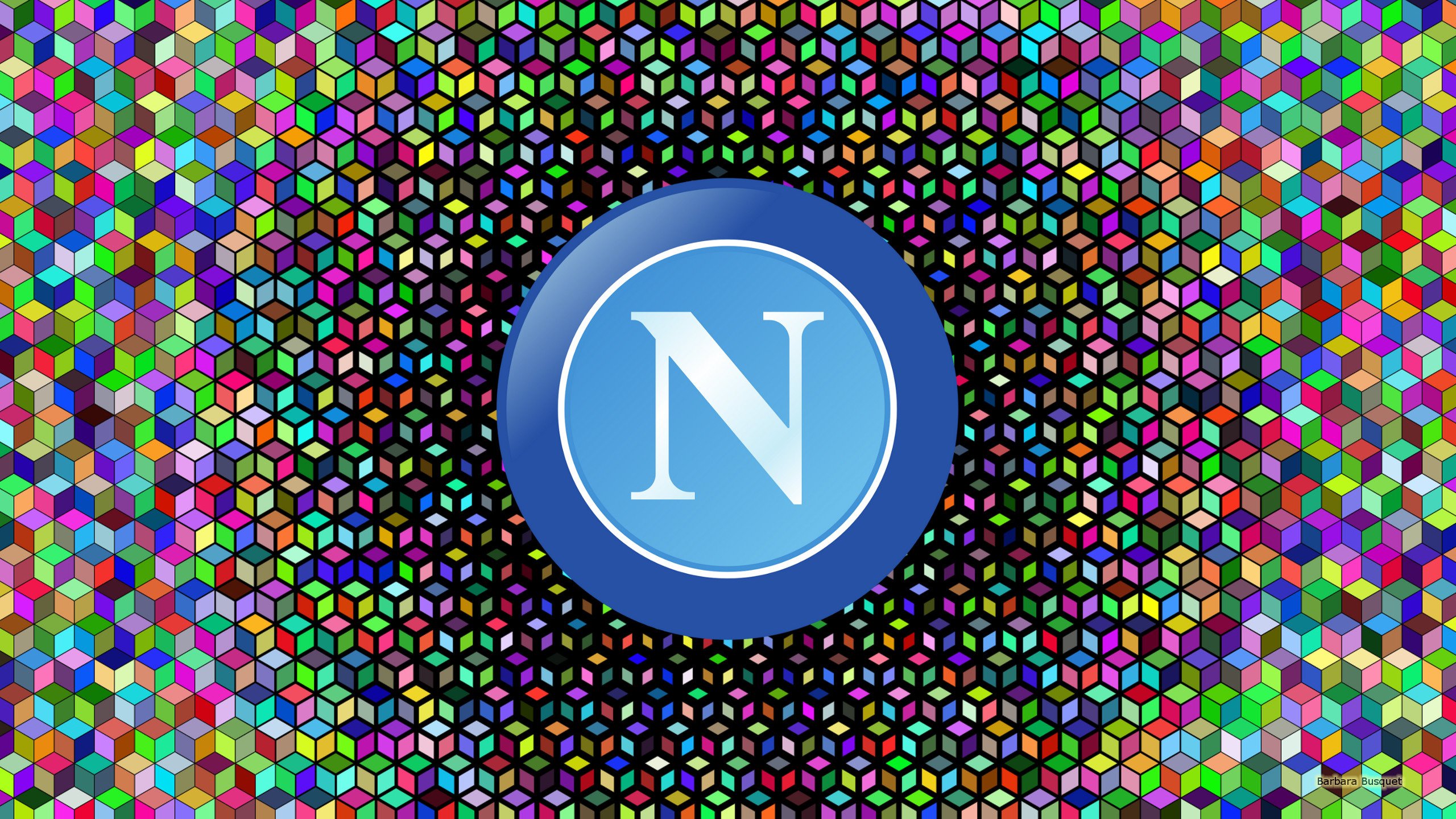 S.S.C. Napoli football logo wallpapers.