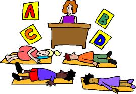 School nap time clipart.