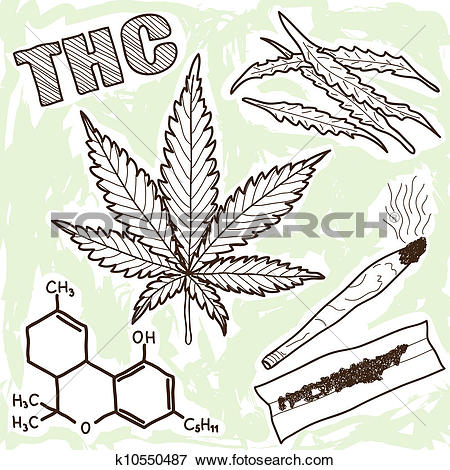 Clip Art of Illustration of narcotics.