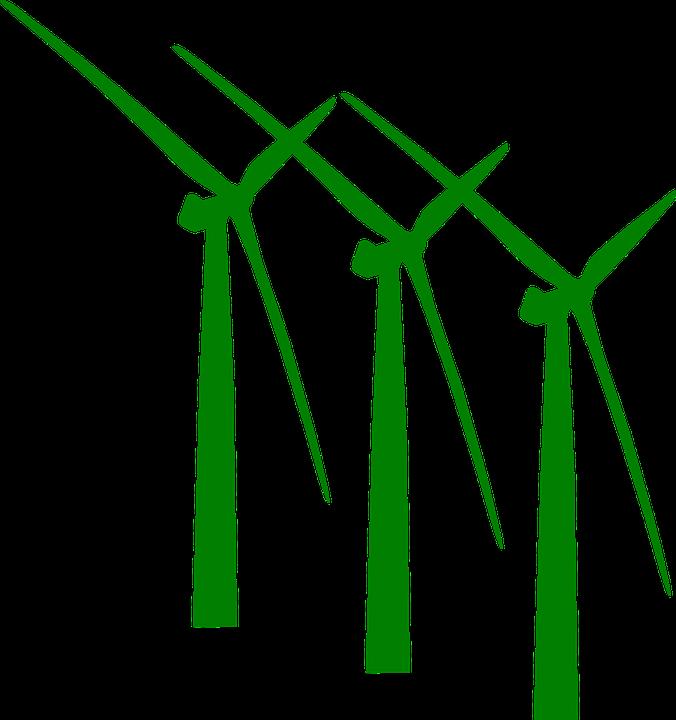 Free vector graphic: Wind Power, Wind Mills, Generators.