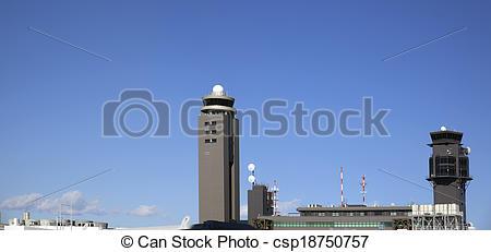 Stock Images of Narita Tokyo Airport Control Tower Panorama.