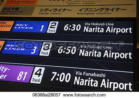 Picture of Japan,Tokyo,Keisei Ueno Train Station,Narita Airport.