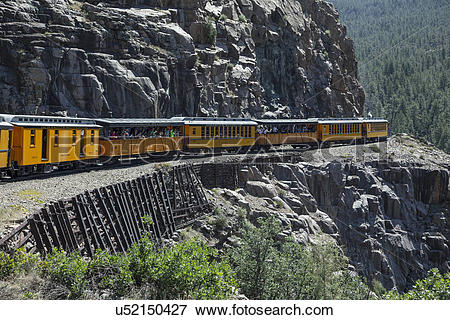 """Picture of """"Durango and Silverton Narrow Gauge Railroad Steam."""